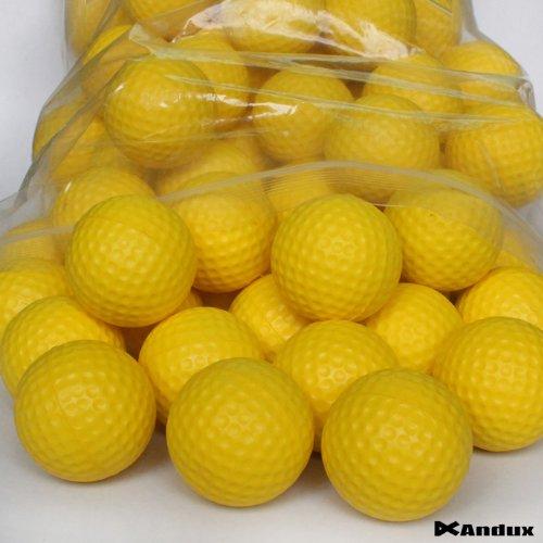 Andux 36pcs PU balles de Golf en Mouse Jaune pour entraîner PU