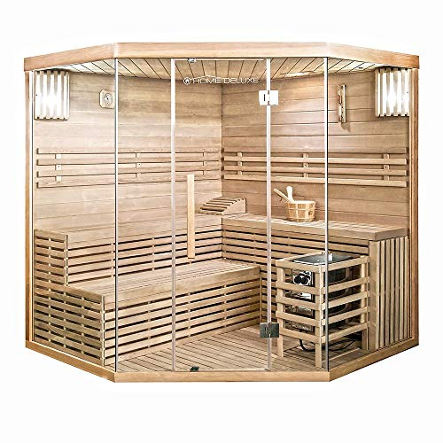 Home Deluxe - Traditionelle Sauna - Skyline XL Big - Holz: Hemlocktanne - Maße: 200 x 200 x 210 cm...