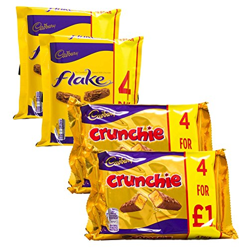 Cadbury Variety Selection | 8 Bars of Cadbury Flake & 8 Bars of Cadbury Crunchie | 16 Bars Total