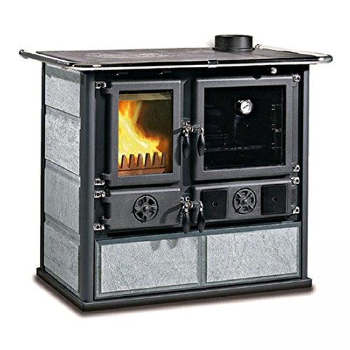 La Nordica Cocina a leña Rosa DX piedra natural Potencia térmica nominal 6.5KW 185M3calefactables Color Piedra