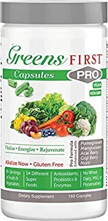 Greens First PRO-Capsules - Nutrient Rich-antioxidant Superfood, 49 Different Super Foods,phytonutrient & A...