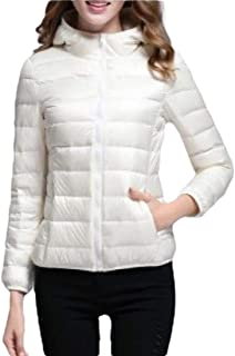 Women Hooded Lightweight Down Jackets Puffer Coats