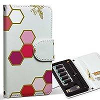 スマコレ ploom TECH プルームテック 専用 レザーケース 手帳型 タバコ ケース カバー 合皮 ケース カバー 収納 プルームケース デザイン 革 その他 蜂 はち 模様 006373