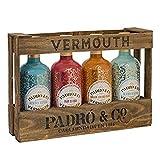 Padró & Co Vermouth en Caja de Madera - Paquete de 4 x 750 ml -...