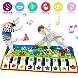 PROACC Klavier Playmat größte Größe (53 * 23 Zoll) Kinder Klaviertastatur Musik Playmat Spielzeug, lustige Tanzmatte für Babys Kleinkind Jungen und Mädchen Geschenk