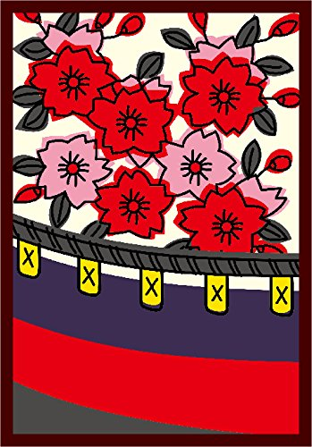 ブロッコリーキャラクタースリーブ・ミニ 花札「桜に幕」