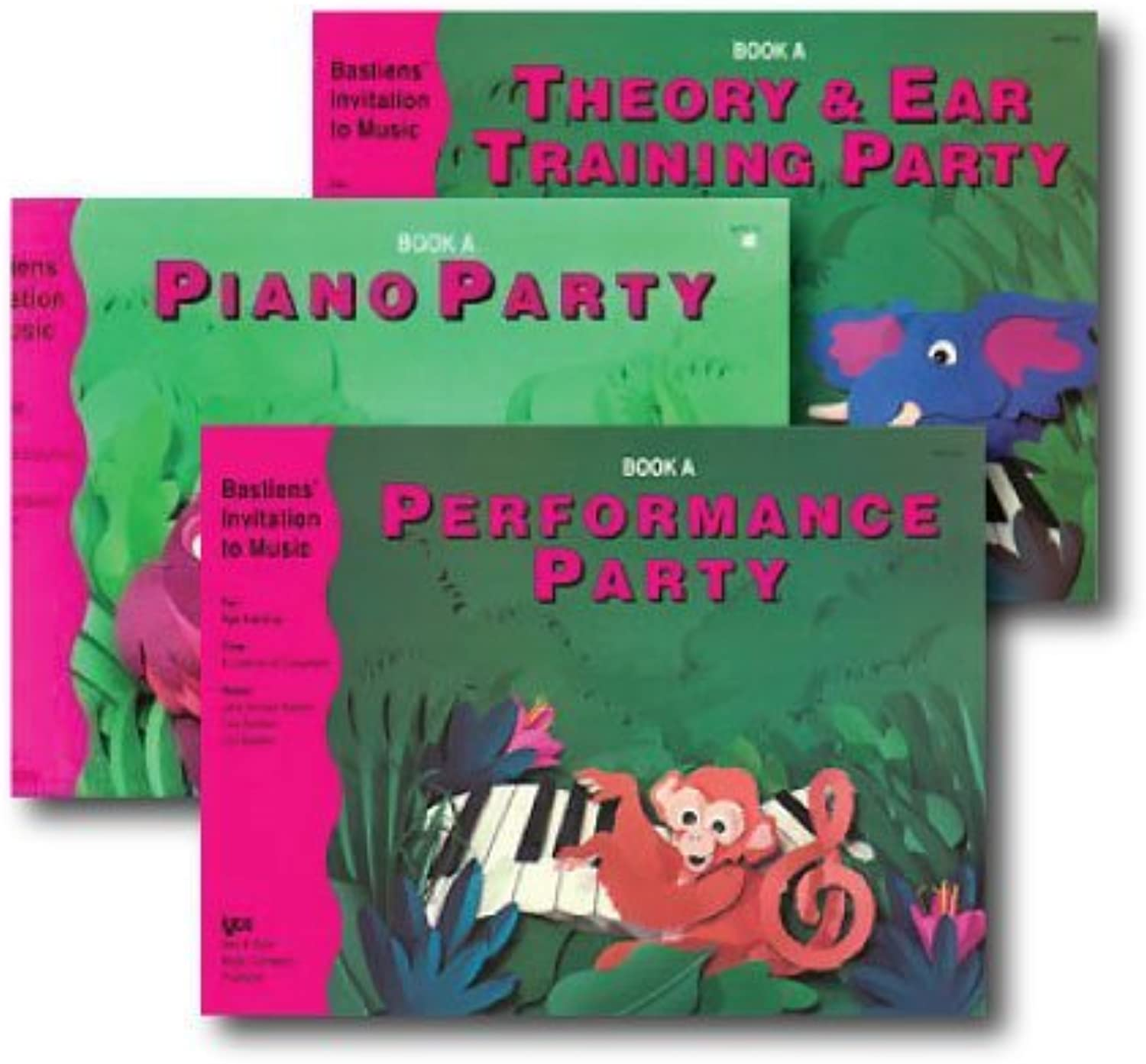 Bastiens' Invitation to Music - 3 Book Set - Includes Piano Party Book A, Performance Party Book A, and Theory & Ear Training Party Book A by Bastiens' Invitation to Music