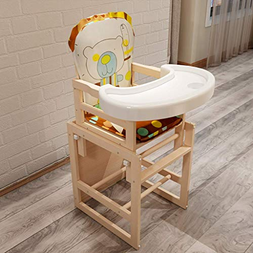 Best Deals! XHHWZB Children's Dining Chair Portable Multi-Function Solid Wood Baby Learning Chair (C...