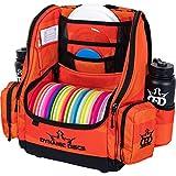 Dynamic Discs Commander Backpack Disc Golf Bag | 20 Disc Capacity | Two Deep Storage Pockets | Two Water Bottle Holders | Frisbee Disc Golf Backpack Bag (Infrared Orange)