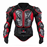 WOSAWE BMX Body - Chaqueta de manga larga para motocicleta, color rojo XXXL