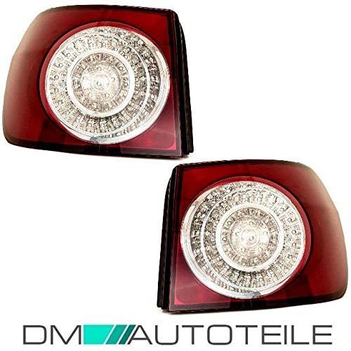 DM Autoteile Golf 5 PLUS LED Heckleuchten Rückleuchte Rücklicht Außen Set 05-08 Rot Weiß