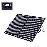 ACOPOWER 100W Mono Lightweight Portable Solar Panel Kit, 2x50W Solar Suitcase, Waterproof 20A...