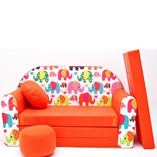 F9-a Canapé pour Enfants Kids Baby Canapé Mini Canapé lit Pouf Lot de 3 en 1 d'oreillers en Mousse