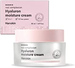 Hanskin Real Complexion Hyaluronic Moisture Cream - Hyaluron Acid, Moisturizing, Glowing, Soft & Fragrance-Free. Hanskin Official [50g]