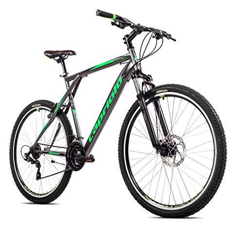 breluxx® 29 Zoll Mountainbike Hardtail FS Disk Adrenalin Sport grau-grün, 21 Gang Shimano, FS + Scheibenbremsen - Modell 2020