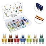 [UL LISTED] MulWark 140pc ClearMark Assorted Standard Auto Car Truck Blade Fuses Set-5A 7.5A 10A 15A 20A 25A 30A-ATC/ATO+ATM Mini-Automotive-Blade-Fuse Assortment Kit w/A Puller for Boat,Marine,RV,SUV