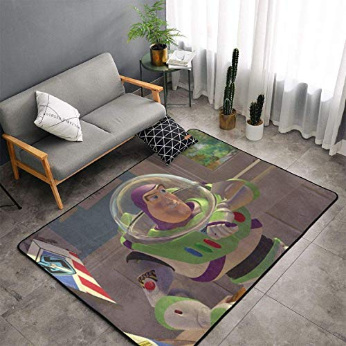 yunyang Toy Story Buzz Lightyear Teppich rutschfeste Teppiche Schlafzimmer Camping Weiche Teppiche Kinder Wohnzimmer...