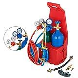 HODOY Professional Portable Welding/Cutting/Brazing Tool Kit torcia attrezzatura con supporto di trasporto in plastica (Torcia per brasatura)