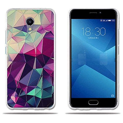 FUBAODA für Meizu M5 Note 5 Hülle, [Bunte Box] Transparente Silikon TPU Fashion Kreatives Design Anti-Scratch Smart Schutz Stilvolle Silikon Slim Fit Shockproof Flexibel für Meizu M5 Note 5