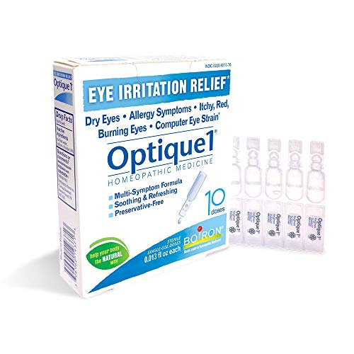 Boiron Homeopathic Medicine Optique Single-Use Drops for Eye Irritations, 10 Count Box