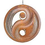 CIM Carillón de Viento de pátina - Juego de Viento de Metal - Yin Yang 250 - Dimensiones: Ø25cm - pátina Decorativa