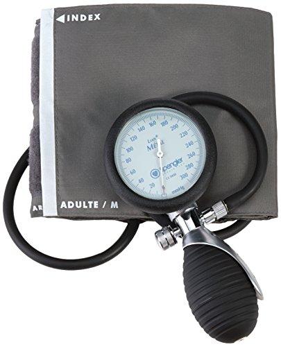 Spengler Lian - Tensiómetro manual con brazalete para adultos (velcro, nailon, talla M), color gris