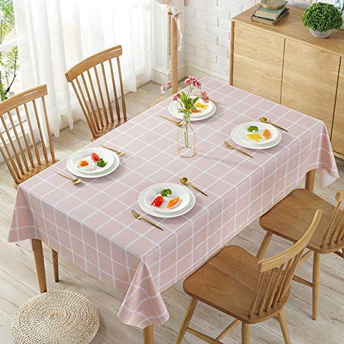 shiyueNB Tafelkleed kunststof keuken oliedichte tafelkleed decoratie elegante waterdichte tafel deksel banket huisdecoratie open haard tafelkleed 90x140cm