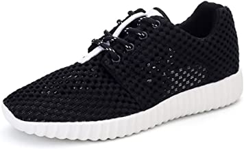 MYHYZZ-Athletic Shoes Men's Outdoor Athletic Shoes Lace up Breathable Leisure Sneaker Men's Casual Shoes