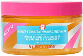 First Aid Beauty Hello FAB Ginger and Turmeric Vitamin C Jelly Mask: Brightening Face Mask WITH Allantoin to Relieve Stres...