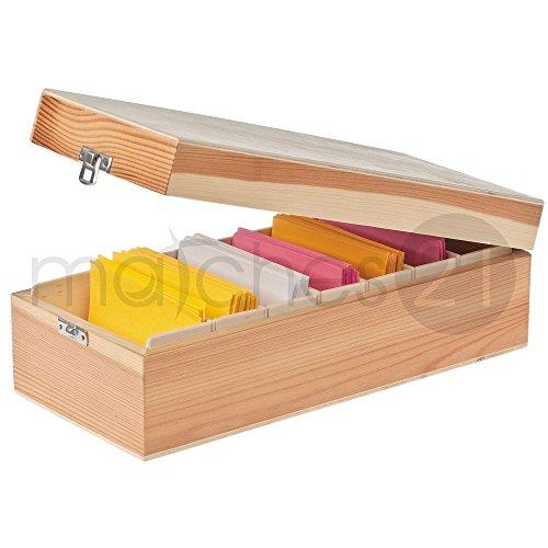 matches21 Karteikasten 30x13,5x9 cm Holz Bausatz f. Kinder Werkset Bastelset ab 10 Jahren