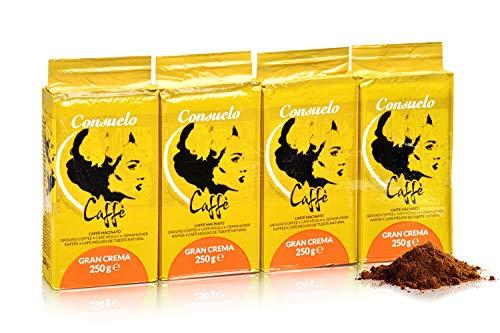 Consuelo Italienischer Caffè Gran Crema - gemahlen, 4 x 250 g