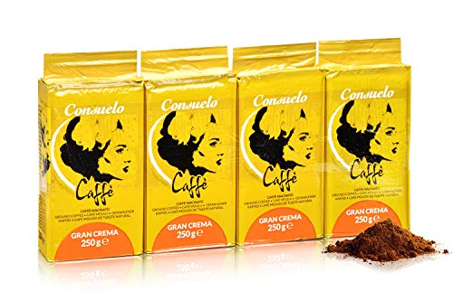 Consuelo Gran Crema - Café moulu italien - 4 x 250 g