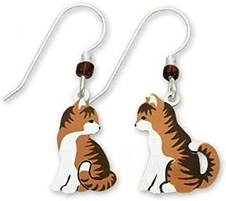 "Tabby Cats 耳环""Tess""Pai of Facing Each Other 由 Sienna Sky 1471 在美国制造"