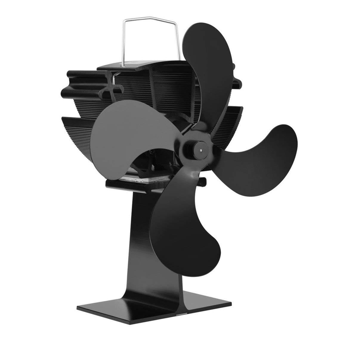 fghdf 4 Cuchillas Calentador Alimentado por Calor Ventilador de ...