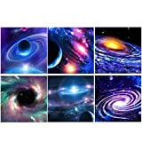 XPCARE 6 Pack 5d Diamond Painting Kits Full Drill Rhinestone Universe Diamond Pictures for Home Wall Decor(Canvas 12 X 12 Inch)