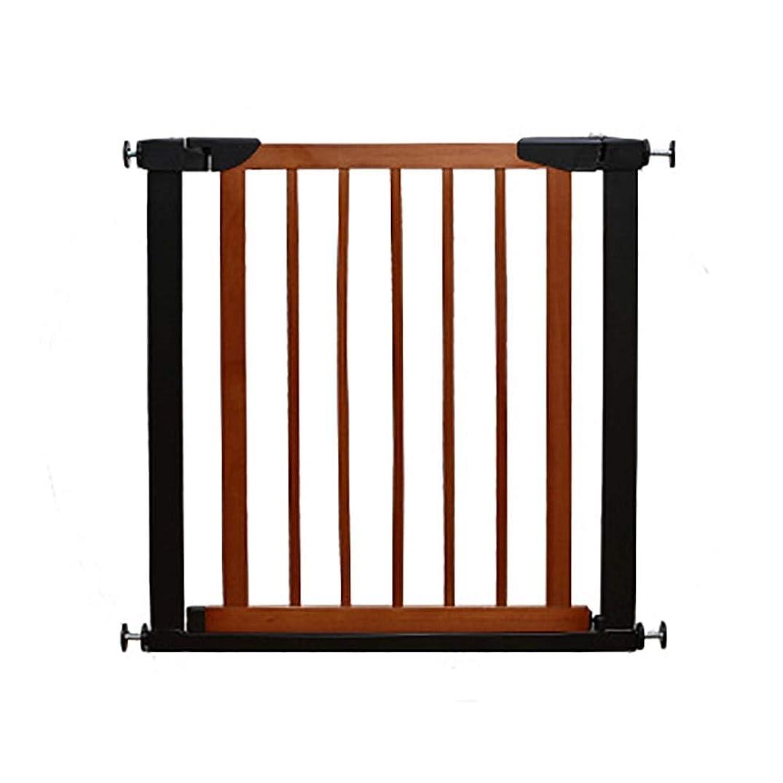 怠感できればパニックベビーゲート 圧入安全ゲート、 階段出入り口のベビーゲート 高さ74.5cmの安全扉、 開閉が簡単(ウッド&メタル) (Color : Brown, Size : 89-96cm)