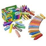 Childrens Crayola Box of 48 Sidewalk Washable Anti-Roll Bright Coloured Chalks