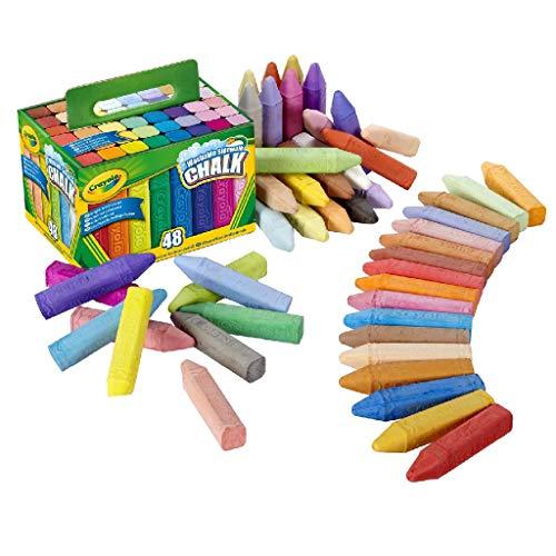 Crayola 48 Gessi per esterno lavabili, per Scuola e Tempo Libero, colori assortiti, One size, 51-2048-E-201