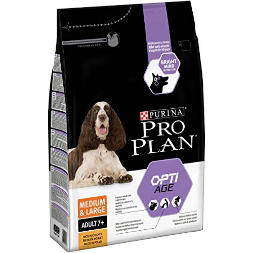 PURINA Pro Plan Comida Seco para Perro Adulto Mediano y Grande 7+ con Optiage, Sabor Pollo - 3 Kg