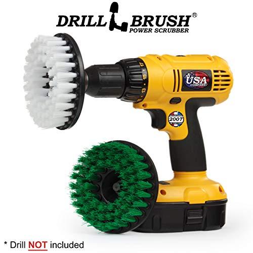 Drill Brush - keukenhulp - voegenreiniger - grote spin-borsteluitrusting - reinigen fornuis, ovenrek, wastafels, tegels, tels, kasten, vloeren - glasreiniger - bekleding, leer, stof, vinyl