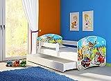 Clamaro 'Fantasia Weiß' 140 x 70 Kinderbett Set inkl. Matratze