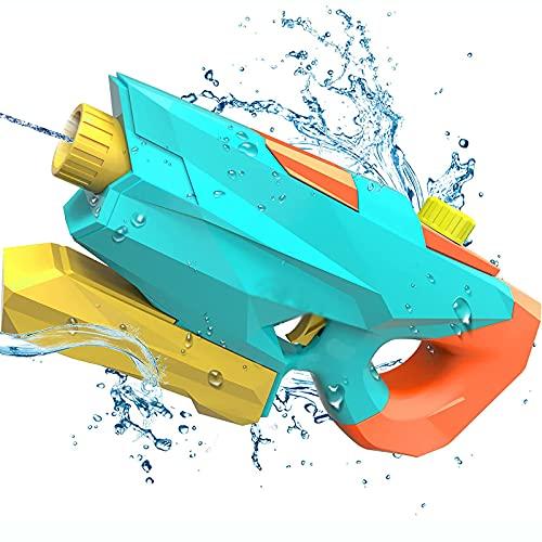 KUMADAI Pistola Agua Niios Largo Alcance 7-8M Pistola de Agua Alta Capacidad 1200ML Multifunción 2 Modos de Pulverización Juguete de Agua para Piscina Playa Fiesta