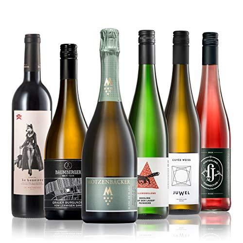 GEILE WEINE Weinpaket WEIN FÜR SIE (6 x 0,75l) Weißwein, Rotwein, Rosé und Prickelndes für Frauen