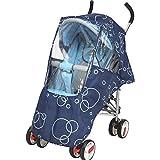 XIAOTING 赤ちゃんにはザ・雨、風と雪と旅行のためのバギー、ベビーカー、ベビーカーとベビーカー、EVA素材、PVCフリーのユニバーサルレインカバー (Color : Blue)