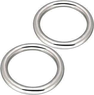 Abimars 4 tum tung typ sömlös svetsning O-ring 304 ringar i rostfritt stål multifunktion metall O-ring – 2-pack