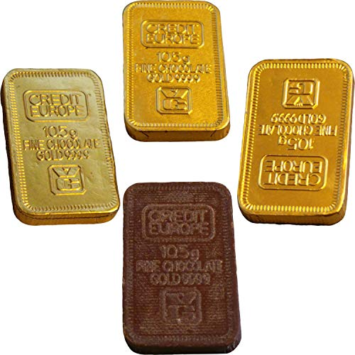 Milchschokolade Goldbarren Ingot (12 geliefert)