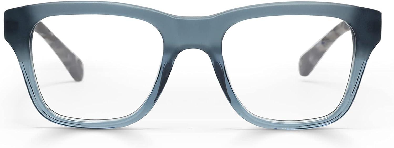 Kvetcher Narrow Premium Readers for Women and Men | Square Eye Glasses