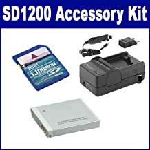 Canon Powershot SD1200 is Digital Camera Accessory Kit Includes: SDNB6L Battery, SDM-185 Charger, KSD2GB Memory Card