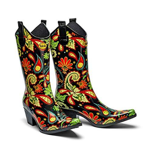 Paisley Vibe Cowboy-Gummistiefel – Talolo Stiefel, - Mehrfarbig - Größe: 37 EU