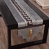 JKLAQ Sala de Estar, Mesa de Comedor, Mesa de Centro, tapizado de Entrada, Gris Claro, 34x160